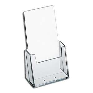 50 Pack of Heavy Duty Acrylic Tri Fold Brochure Holder 4 x 9