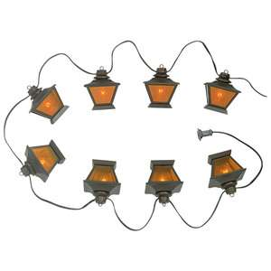 Eight Amber Globes Outdoor String Light Christmas Lighting