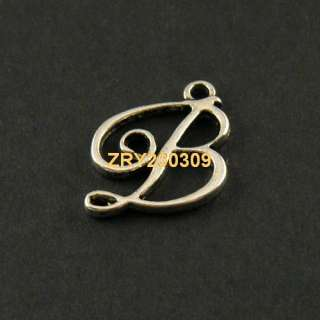 "35Pcs Tibetan Silver Letter ""B"" Charms Pendants 18x19mm KA4030"
