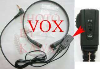 PICTURE 1 Throat mic with VOX and surveillance style coil tube.