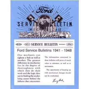 1941 1946 1947 1948 FORD Car Truck Service Bulletins Automotive