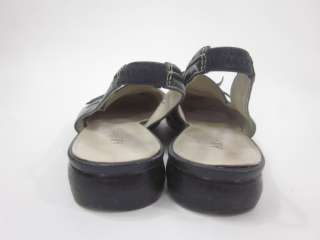 You are bidding on ANNE KLEIN Navy Leather Slingbacks Heels size 8.5.