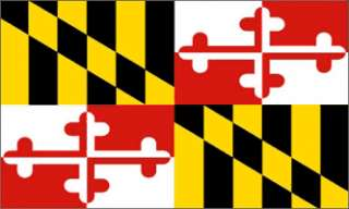 x5 MARYLAND STATE FLAG USA OUTDOOR INDOOR BANNER 3X5