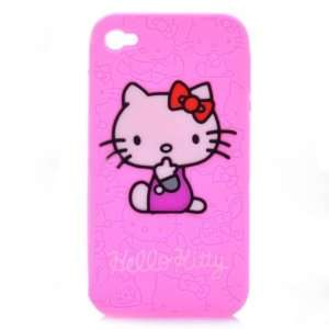 Cute Hello Kitty Pattern Protective Silicone Back Case for
