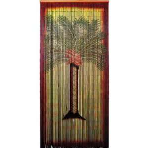 Doorway parrot bamboo curtain for Hand painted bamboo beaded curtains