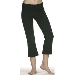 BELLA 815 Cotton Spandex Capri Pant BLACK MEDIUM: Sports