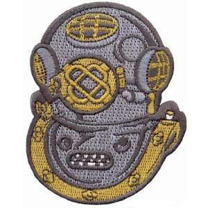 Mark V Helmet Hard Hat Patch Embroidered Iron On Navy Rescue Scuba