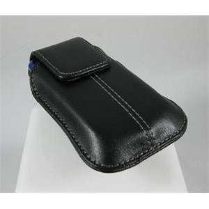 Black Leather Belt Clip Case for LG Xenon GR500 (AT&T