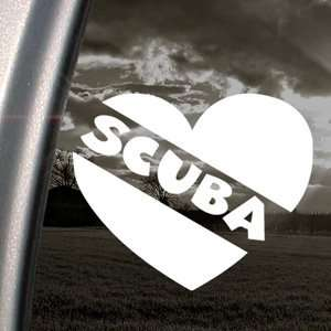 Love Scuba Diver Heart Decal Dive Flag Car Sticker