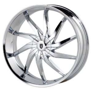 Von Max VM8 24x9.5 Chrome Wheel / Rim 6x5.5 with a 24mm Offset and a