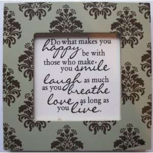 Kindred Hearts Inspirational Quote Frame (6 x 6 Green Emblem Pattern