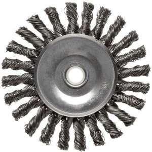 Weiler Dualife Wire Wheel Brush, Round Hole, Steel, Full Twist Knotted