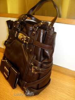 NEW MICHAEL KORS GANSEVOORT LG TOTE HANDBAG BAG TEAK Brown leather New