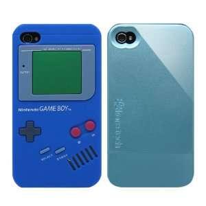 2pcs Set Nintendo Game Boy Silicone Case Blue + KoreTech (TM) Glider