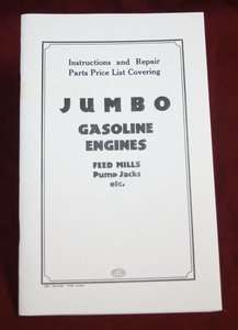 Jumbo Gas Moor Gasoline Engines Book Service Manual Hi & Miss |