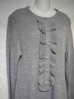 Lennie for Nina Leonard gray sweater dress