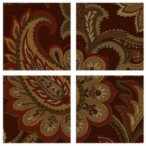 Brown Paisley Wall Decals Appliques