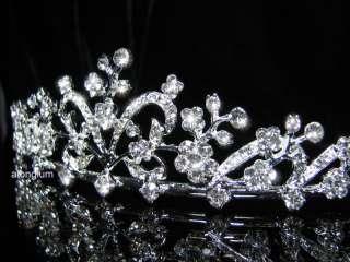 A10 1 Wedding Bridal Bridesmaid Swarovski Crystal Rhinestone Veil Prom