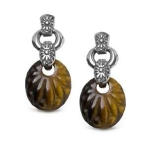 Carolyn Pollack Sterling Silver Carved Tiger Eye Loretto