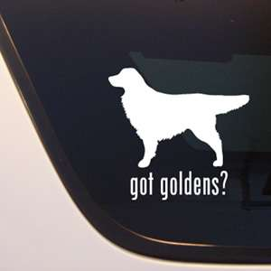 GOT GOLDENS? GOLDEN RETRIEVER DOG DECAL   DOGS STICKER