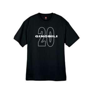Mens Ginobili 20 Black T Shirt Size Xxl
