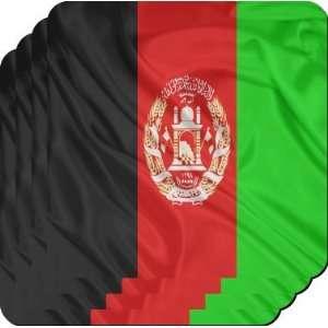 Rikki KnightTM Afghanistan Flag   Square Beer Coasters