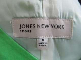 Jones New York Sport Green Linen Pinup Tank Cocktail Midi Sheath Dress