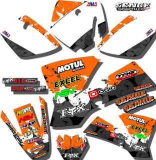 98 99 2000 XC SX MXC GRAPHICS KIT KTM DECALS STICKERS