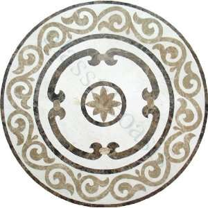 Crema Marfil Emperador Dark Emperador Light Medallion Cream/Beige