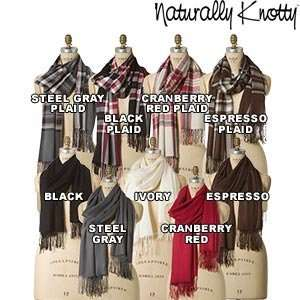 Naturally Knotty Luxurious Wraps,100% Bamboo Fiber, Ivory
