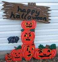 Stacked Pumpkin Happy Halloween Yard Art Decoration