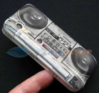 OLD RADIO CASSETTE PLAYER Hard Back Skin Case Cover For Samsung Galaxy