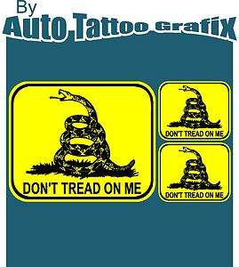DONT TREAD ON ME Decal Sticker Hard Hat Helmet Car Truck Military
