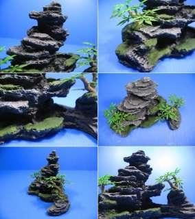 Mountain View Aquarium Ornament tree   Rock Cave stone