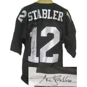 Ken Stabler Autographed/Hand Signed Oakland Raiders Black