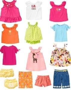 GYMBOREE Girls Summer Lot UPic Shirts Shorts Dress NWT