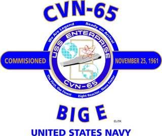USS ENTERPRISE (CVN 65)  BIG E  U.S.NAVY EMBLEM SHIRT (FRONT)