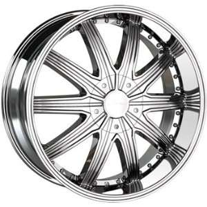 Veloche Tork 22x9.5 Chrome Wheel / Rim 6x5.5 with a 18mm Offset and a