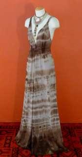 RIVER GODDESS Boho Tie Dye Print FESTIVAL hippie maxi DRESS m