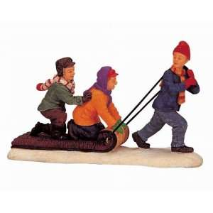 Village Collection The Toboggan Tug Figurine #02418