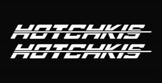 Hotchkis Die Cut Decal Vinyl Sticker   8 White