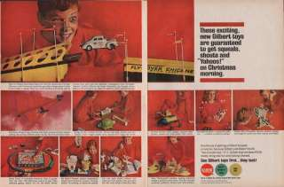 1963 GILBERT TOYS AD   AUTO RAMA/ERECTOR/AMERICAN FLYER