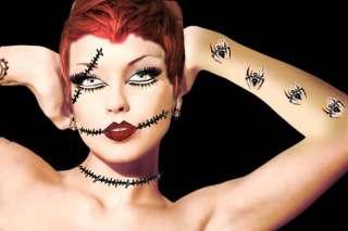 Sally Corpse Dead Girl Zombie Costume Eye Body Makeup