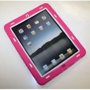 Ipad Super Case   Hot Pink / White