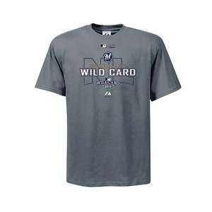 Milwaukee Brewers Youth 2008 NL Wild Card Authentic Collection T Shirt