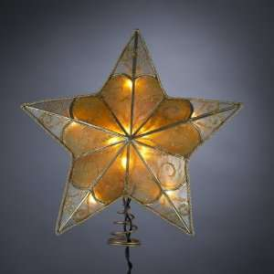 Swirl Capiz Star Christmas Tree Topper   Clear Lights