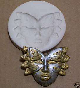 MARDI GRAS FACE MASK ~ CNS polymer clay mold