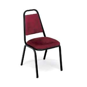 Vinyl Stack Chair Red Vinyl/Charblack Frame Office