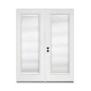 French patio door with tilt and raise blinds h37797 - Home depot french doors with blinds ...