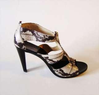 Michael Kors BERKLEY Ladies T Strap Natural Genuine Snake Heels Shoes